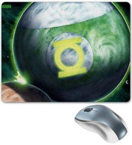 "Коврик для мышки ""Зеленый фонарь/ Green Lantern"" - арт, dc, зеленый фонарь, greenlantern"