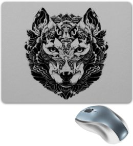 """Коврик для мышки """"Волк Стилизация 2"""" - волк, wolf, волчица"""