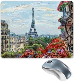 "Коврик для мышки ""Эйфелева башня"" - графика, франция, париж, эйфелева башня"
