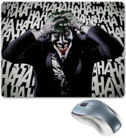 """Коврик для мышки """"Сумасшедший Джокер"""" - джокер, харли квинн, бетмен, отряд самоубийц, готем"""