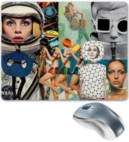 """Коврик для мышки """"Space Collage"""" - модель, nasa, 80, космический, твигги"""
