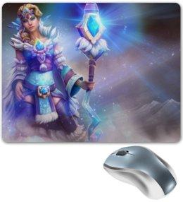"Коврик для мышки ""Crystal Maiden"" - девушка, dota 2, crystal maiden, посох, frost bringer"