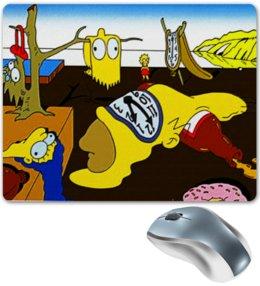 """Коврик для мышки """"Симпсоны - Постоянство памяти"""" - симпсоны, коврик для мыши, креативно, the simpsons, сельвадор дали"""