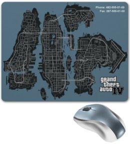 """Коврик для мышки """"GTA 4 Map"""" - gta, gta4, gtacheat"""