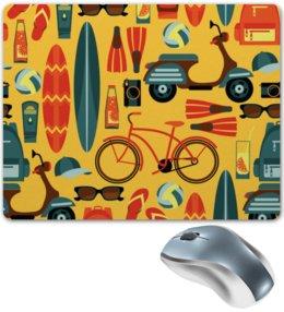 """Коврик для мышки """"Летний"""" - отдых, рисунок, спортивный, велосипед, летний"""