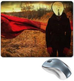 """Коврик для мышки """"Осень"""" - осень, свет, лампочка, light, fall, фонарь, light bulb"""