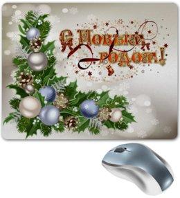 """Коврик для мышки """"Новый год"""" - праздник, новый год, зима, снежинки, елка"""