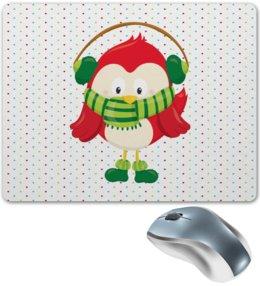 """Коврик для мышки """"Совенок"""" - новый год, птица, сова, птички, подарки"""