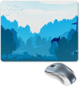 """Коврик для мышки """"Природа"""" - деревья, пейзаж, природа, животные, лес"""