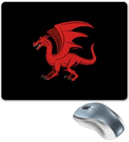 """Коврик для мышки """"дракон"""" - крылья, животные, дракон, dragon, динозавр"""