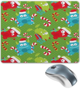 """Коврик для мышки """"Монстр"""" - конфеты, новый год, зима, подарки, монстры"""