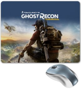 "Коврик для мышки ""Tom Clancys Ghost Recon Wildlands"" - tom clancys ghost recon wildlands, ghost recon, tom clancy, игры, для геймеров"