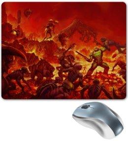"Коврик для мышки ""Doom 4"" - doom, демон, шутер, дум"