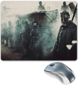 "Коврик для мышки ""Battle"" - армия, война, war, солдат, battlefield"