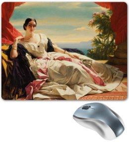 """Коврик для мышки """"Леонилла Витгенштейн (картина Винтерхальтера)"""" - картина, портрет, живопись, винтерхальтер"""
