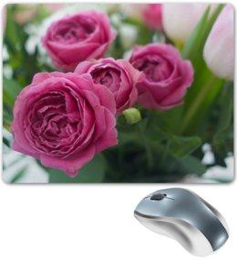 """Коврик для мышки """"Розовые розы"""" - праздник, цветы, весна, розовый, розы"""