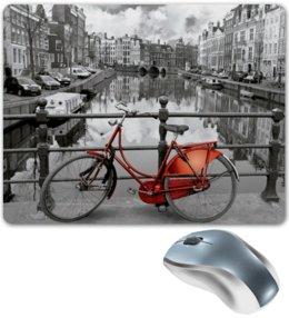 "Коврик для мышки ""Амстердам"" - amsterdam, bicycle, велосипед, bike, амстердам"