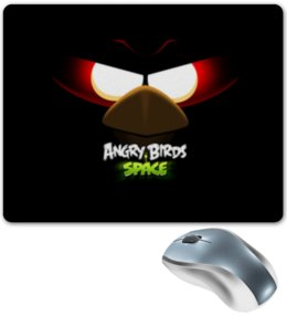 "Коврик для мышки ""Space (Angry Birds)"" - angry birds, игры, space, мультфильм, птица"