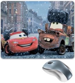 """Коврик для мышки """"Тачки"""" - мультфильм, дисней, машина, тачки, молния"""