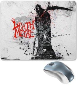 """Коврик для мышки """"Death Metal"""" - череп, смерть, death metal, металл"""