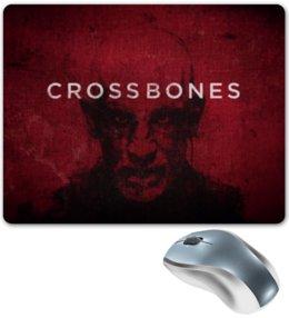 """Коврик для мышки """"Череп и кости / Crossbones"""" - кино, сериал, череп и кости, малкович"""