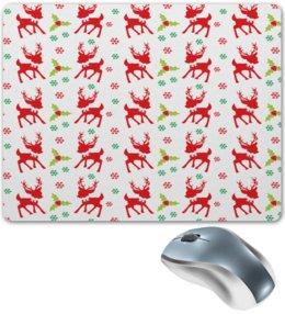 """Коврик для мышки """"Олени"""" - новый год, зима, снег, снежинки, олень"""