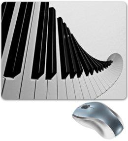 """Коврик для мышки """"Музыка"""" - музыка, клавиши, музыкальные инструменты, ноты, пианино"""