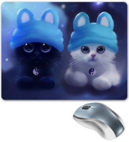 """Коврик для мышки """"Инь и Ян"""" - котенок, инь и ян"""