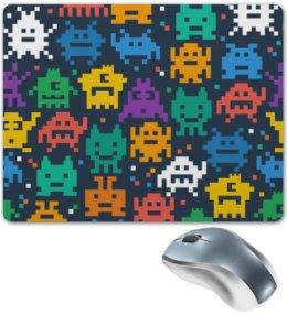 """Коврик для мышки """"Монстры пиксели"""" - minecraft, pacman, монстры, pixel art, пиксели"""