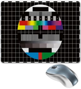 """Коврик для мышки """"Нет сигнала"""" - цифры, пауза, телевидение, перерыв, нет сигнала"""