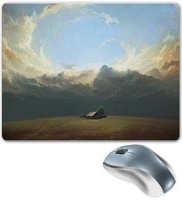 """Коврик для мышки """"Дом в поле"""" - house, world, sky, облака, дом в поле"""