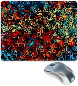 """Коврик для мышки """"Пятна красок"""" - узор, рисунок, пятна, краски, цветные"""
