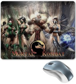 """Коврик для мышки """"mortal kombat x"""" - mortal kombat, mk, мортал комбат, мк 10"""