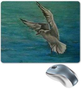 """Коврик для мышки """"Чайка"""" - море, чайка, летать"""
