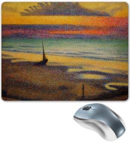 """Коврик для мышки """"Пляж в Хейсте (Жорж Леммен)"""" - картина, пейзаж, живопись, жорж леммен, неоимпрессионизм"""