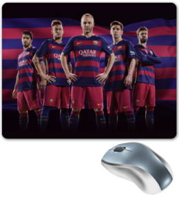 "Коврик для мышки ""FC Barcelona"" - футбол, messi, месси, барселона, испания"