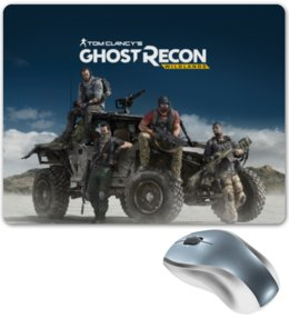 "Коврик для мышки ""Tom Clancys Ghost Recon Wildlands"" - tom clancy, tom clancys ghost recon wildlands, ghost recon, игры, для геймеров"