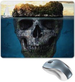"""Коврик для мышки """"MYSTERIOUS ISLAND"""" - череп, пираты, остров, приключения"""
