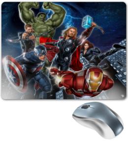 "Коврик для мышки ""Avengers "" - avengers, marvel комиксы"