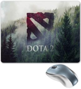 """Коврик для мышки """"DotA 2 лесная тематика"""" - dota, dota 2, лесная зелень"""