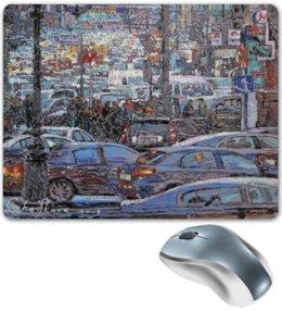 """Коврик для мышки """"Охотный ряд"""" - арт, москва, город, пейзаж, живопись"""