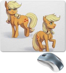"""Коврик для мышки """"MLP, Мой маленький пони: Эппледжек"""" - applejack, mlp, my little pony"""