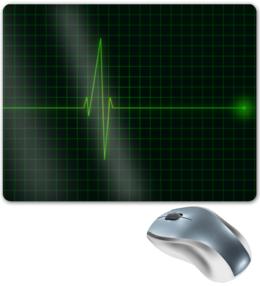 """Коврик для мышки """"Пульс"""" - медицина, пульс, экг, здравоохранение"""