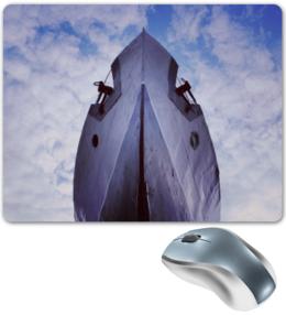 """Коврик для мышки """"Летучий корабль"""" - полет, оригинально, небо, корабль, настя, наутилус"""