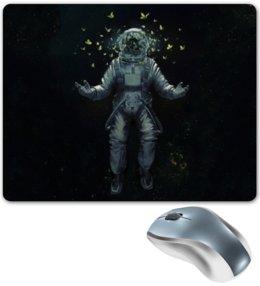 """Коврик для мышки """"Космонавт"""" - бабочки, космос, звёзды, гравитация, скафандр"""