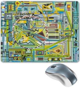 """Коврик для мышки """"Березка"""" - арт, абстракция, фигуры, бирюзовый"""