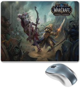 "Коврик для мышки ""World of Warcraft Battle for Azeroth"" - wow, world of warcraft battle for azeroth"
