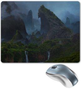 "Коврик для мышки ""Uncharted"" - лес, горы, остров, водопад, uncharted"