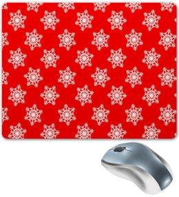 """Коврик для мышки """"Новый год"""" - праздник, новый год, зима, снег, снежинки"""
