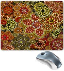 """Коврик для мышки """"Цветочный ковер"""" - цветы, узор, рисунок, весна, ковер"""